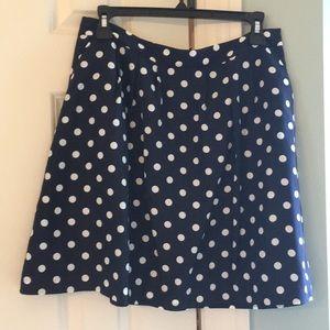 J. Crew Factory Polka Dot Skirt